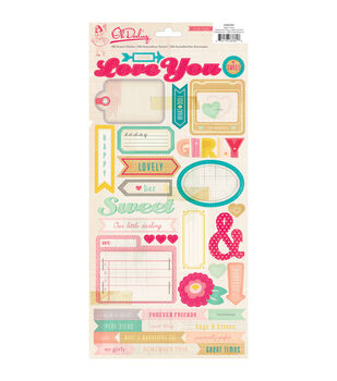 Oh Darling Cardstock Stickers -Phrase, Accent, Alpha, etc.