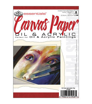 "Royal Brush Essentials Canvas Paper Pad 5""X7""-8 Sheets"