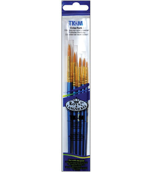 Brush Set Value Pack Taklon 5/Pkg-Round 1,3,5,7,9