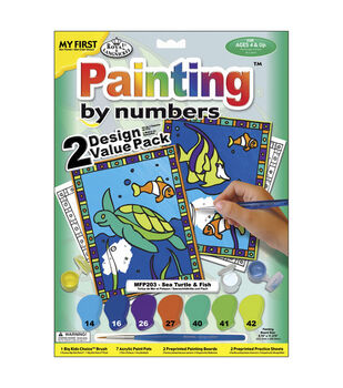 My First Paint By Number Value Kits-2PK/Sea Turtle & Fish
