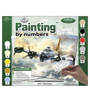 15-3/8''x11-1/4'' Adult Paint By Number Kit-Flying Fortress