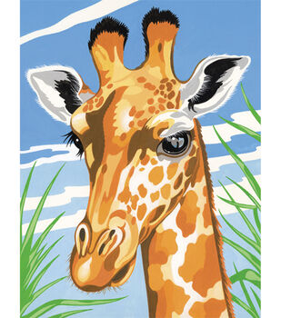 Reeves Junior Paint By Number Kits 9''x12'' Giraffe