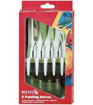 Reeves Painting Knife Set-6PK/Metal
