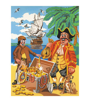 """Medium Paint By Number Kits 9""""X12""""-Pirate Fantasy"""