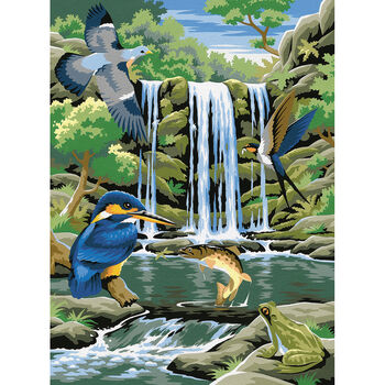 Reeves Paint By Number Kit Waterfall