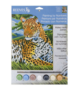 Reeves Leopard Junior Paint By Number Kit