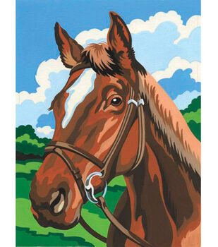 4-1/2''x7'' Mini Paint By Number Kit-Horse