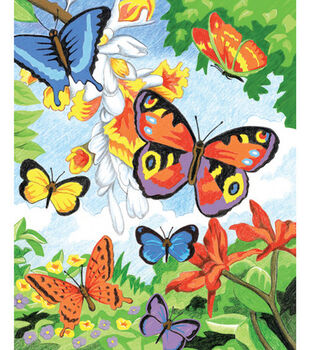 Royal Langnickel Pencil By Number Kit Butterflies