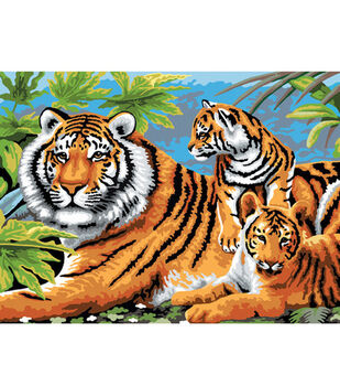 15-1/4''x11-1/4'' Junior Paint By Number Kit-Tiger & Cubs
