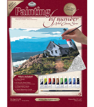 11''x14'' Paint By Number Kit-The Lighthouse