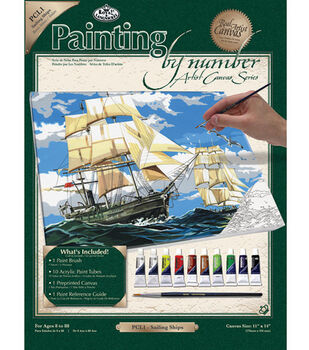 11''x14'' Paint By Number Kit-Sailing Ships