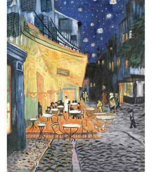 Oil Painting Masterpiece Set 16''X20''-Terrace At Night