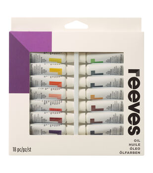 Reeves Oil Paint 10ml 18/Pkg-Assorted Colors