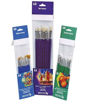 Reeves Golden Synthetic Brush Set 10Pk