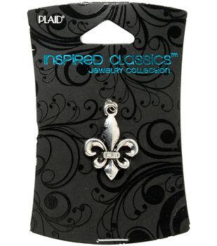 Plaid Inspired Classic Charm 1/Pkg-Fleur De Lis