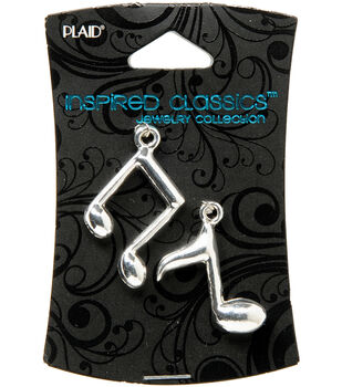 Plaid Inspired Classic Charm 1/Pkg-Music Note