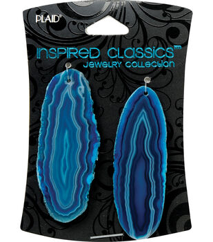 Plaid Inspired Classic Geodes 2/Pkg-Turquoise
