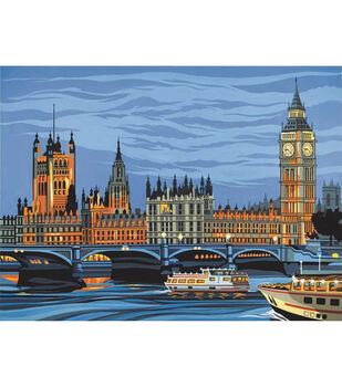 """Paint By Number Kit 12""""X16""""-Houses Of Parliament"""