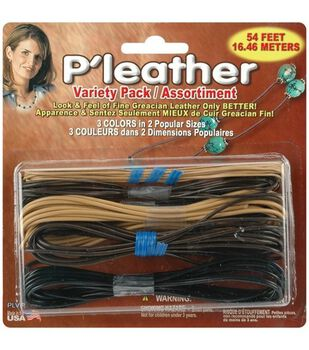 P'leather Cord Variety Pack-Black/Brown/Beige