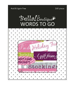 Bella! Boutique Christmas Words To Go Die-Cuts 268/Pkg-