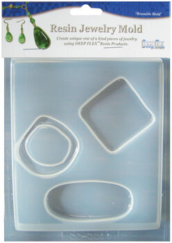 Yaley Deep Flex Resin Jewelry Mold 4 Cavity Large Abstract 3 On 1