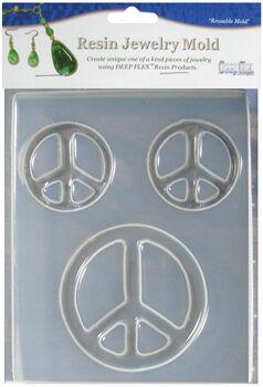 Yaley Deep Flex Resin Jewelry Mold 3 Cavity Peace Symbols