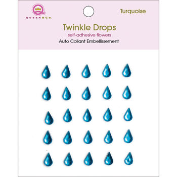 Queen & Co Twinkle Self-Adhesive Embellishments Drops