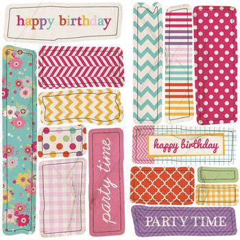 Ruby Rock-It Fundamentals Cardmaking Embossed Stickers Birthday