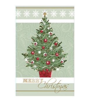 Christmas Tree With Lettering Holiday Cards