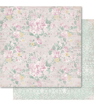 Ruby Rock-It Baby Girl Floral Double-Sided Cardstock
