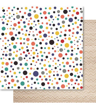 Ruby Rock-It Father Dotti Double-Sided Cardstock