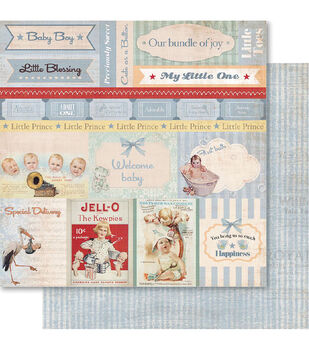 Ruby Rock-It Baby Boy Cut-Outs Double-Sided Cardstock