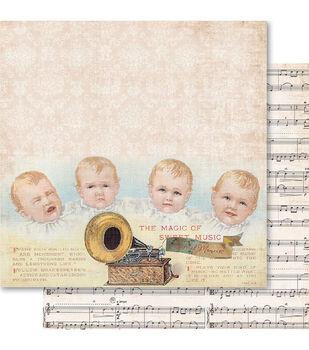 Ruby Rock-It Baby Boy Cuties Double-Sided Cardstock