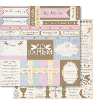 Ruby Rock-It Christening Cut-Outs Double-Sided Cardstock