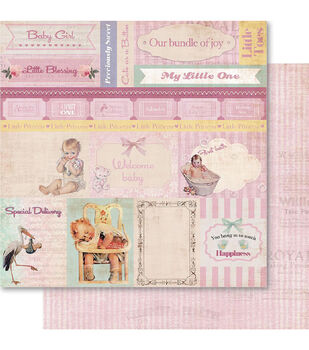 Ruby Rock-It Baby Girl Cut-Outs Double-Sided Cardstock