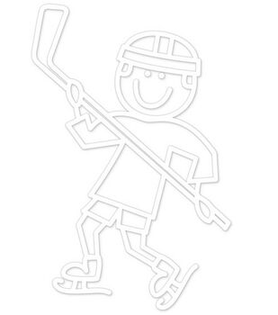 Plaid® Me & My Peeps Family Auto Decal-Hockey Boy