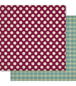Ruby Rock-It Heritage Spots Double-Sided Cardstock