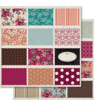 Ruby Rock-It Heritage By The Dozen Double-Sided Cardstock