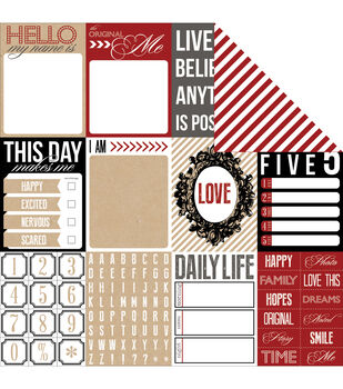 "Hello My Name Is Double-Sided Cardstock 12""X12""-Lucky"