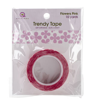 Trendy Tape Core Collection 15mmX10yd-Flowers Pink