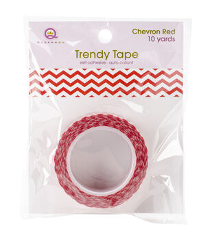 Trendy Tape Core Collection 15mmX10yd-Chevron Red