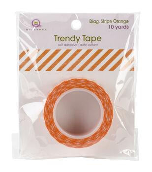 Trendy Tape Core Collection 15mmX10yd-Diagonal Stripe Orange