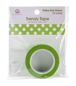 Trendy Tape Core Collection 15mmX10yd-Polka Dot Green