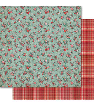 """Ruby Rock It-Country Cookin' Double-Sided Cardstock 12""""X12""""-Floral"""