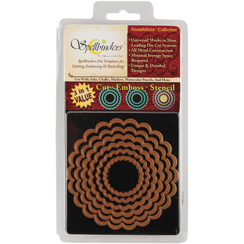 Spellbinders Nestabilities Dies-Classic Scallop Circle Small