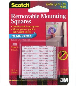 Scotch Removable Mounting Squares 1''