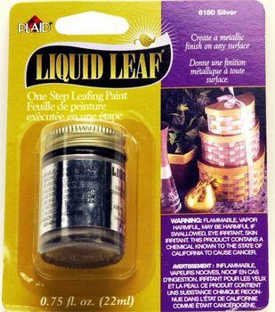 Plaid Liquid One Step Leaf Painting