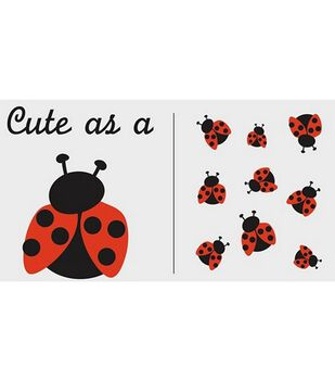 Uptown Baby Color Transfer Iron-Ons-Cute As A Ladybug