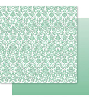Ruby Rock-It Fusion Double-Sided Cardstock Paper Damask