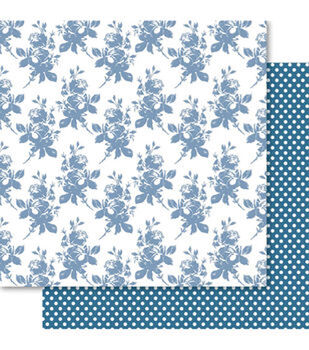 Ruby Rock-It Fusion Double-Sided Cardstock Paper Floral